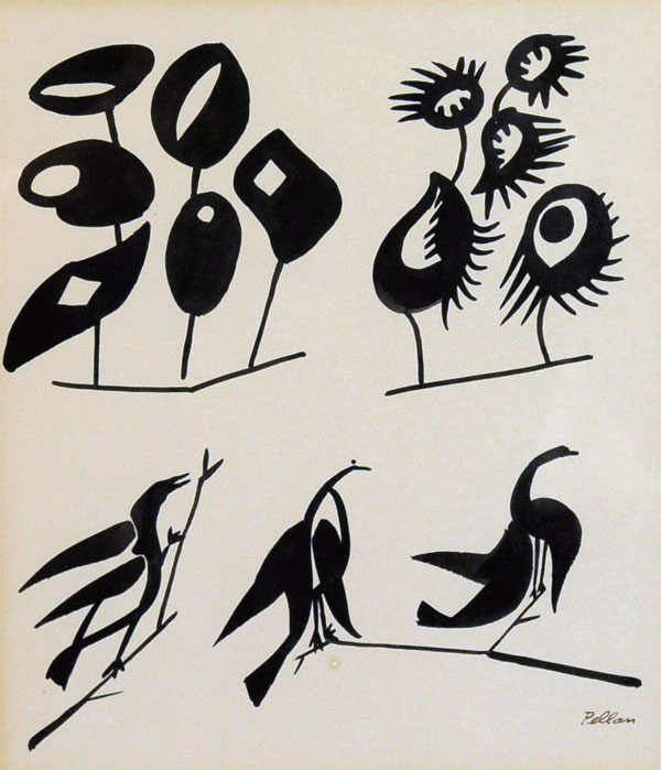 作於1950年,《各式各樣的鳥類》