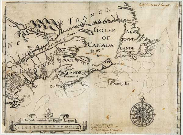Map-showing-New-France,-New-England,-New-Scotlande-and-New-Found-Lande]-